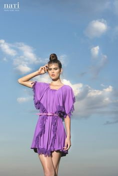 50% sale PRETTY LAVANDER SUMMERDRESS lilac purple by NATIPUREIDEA