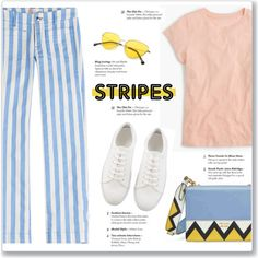 Strong Stripes: Graphic Striped Pants