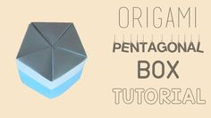 Origami Pentagonal Box Tutorial Origami Box, Origami Paper, Wrapping Ideas, Gift Wrapping, Cool Things To Make, How To Make, Favors, Projects To Try, Crafting