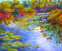 Jodi Shuster - acrylic paintings on canvas, impressionist landscapes and flowers.