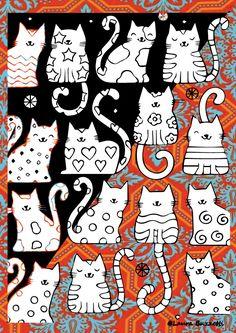 passione per gatti#illustrazioni #momenti giornalieri#disegni e illustrazioni#arte della parete Cat Doodle, Doodle Art, Les Rats, Planner Doodles, Animal Gato, Frida Art, Cat Icon, Cat Crafts, Cat Pattern