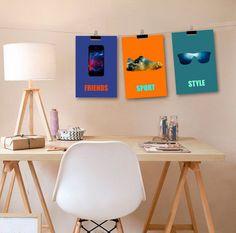 3 affiches stylées pour décoration adolescent garçon par alexiableu