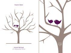 Hochzeitsgästebuch - Wedding Tree Birds (PDF) - ein Designerstück von liebeleishop bei DaWanda