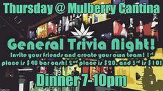 Trivia Night @mulberrystreetcantina W/ @leanmachineusa #LIVIN #Dentoning # #GoodTimes #JustOffSquare #DowntownLilD #leanmachineusa #mulberrystreetcantina #dentonslacker #denton #dentontx #dentontexas #unt #twu #den10 #wddi