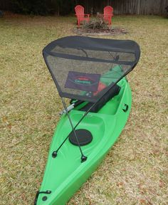 Kayak For Beginners Bimini top for 10 foot kayak. Keeping you in the shade! It's like having your own sun shade! Todo Camping, Kayak Camping, Kayaking With Dogs, Kayaking Tips, Kayak Storage Rack, Kayak Rack, Kayak Fishing Tips, Canoe And Kayak, Bass Fishing