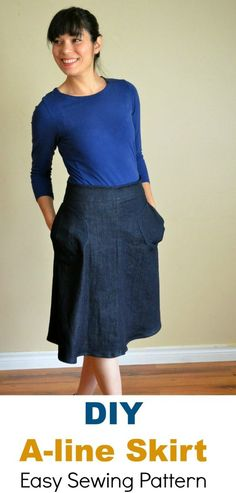 A-Line skirt Free Sewing Pattern