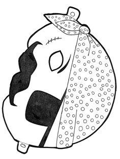 Pirate paper mask