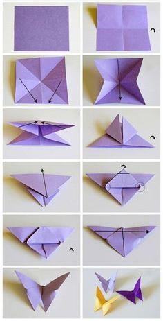 Mariposa de papel Origami Butterfly