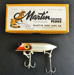 1940s Martin Fishing Lure in original box.