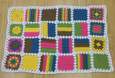 Sample blanket for beginners crochet class. A great way to learn your stitches! Crochet Classes, Crochet For Beginners, Beautiful Crochet, Crochet Baby, Sheep, Stitches, Blanket, Dots, Blankets