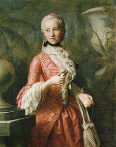 1755 Marie Kunigunde of Saxony, Abbess of Thorn and Essen by Pietro Antonio Rotari (Gemäldegalerie Alte Meister, Dresden Germany)
