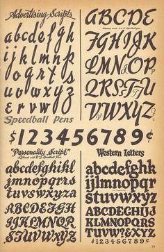 Speedball - textbook lettering for pen or brush