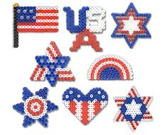 Proud to Be American made with perler beads