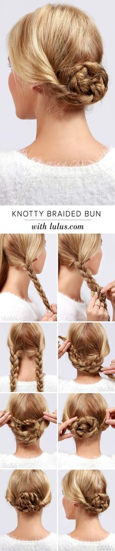 """Being a little """"knotty"""" every once in a while is A-okay with us, especially if you're talking about our cute and simple Knotty Braided Hair Tutorial!"""