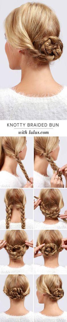LuLu*s How-To: Knotty Braided Bun Hair Tutorial
