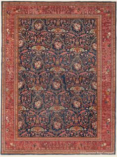 """FERAHAN, 10' 2"""" x 13' 7"""" — Late 19th Century, West Central Persian Antique Rug - Claremont Rug Company"""