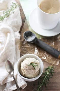 Rosemary Ice Cream | cookiemonstercooking.com