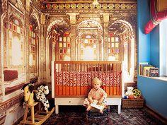 Para tu bebe un cuarto con la magia de India