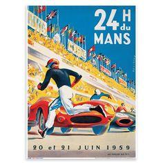 Classic Travel - 24H Du Mans, Art Print