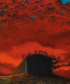 Zdzisław Beksiński, Polish Untitled, 87 x 74 cm (MHS) Arte Horror, Horror Art, Satan, Creepy Art, Surreal Art, Dark Art, Illustration Art, Comic Illustrations, Fantasy Art