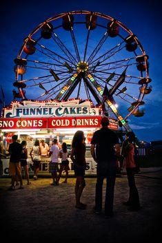 ferris wheel + funnel cake vendor, cole county fair, jefferson city, missouri   carnivals + travel photography #adventure