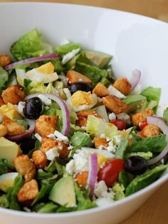 Smoked Paprika Chicken Cobb Salad - a healthier version on the classic Cobb salad
