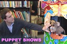Appearing Saturdays and Sundays at 1:00 pm at Bankstreet Bookstore, Fractured Fables presents wacky mashups of traditional tales, that are chosen from a bucket by children in the audience. An improvisational puppet show, Fractured Fables features puppeteers Rebecca Migdal and Chelsea Camp, EmCee Andy Laties, and live music accompaniment by Andy and friends.
