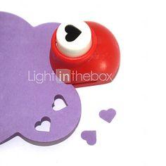 mini-perfurador do ofício (coração pêssego) - BRL R$8,72