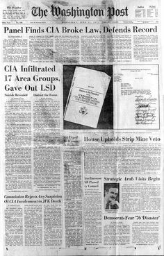 In 1977 it was revealed that random American citizens were abducted & tortured for research by the CIA. Project MK Ultra was the code name for a series of covert activities in the early 1950's.