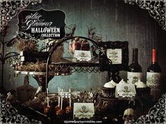 Gothic Victorian Halloween Bling Party Halloween Party Ideas | Photo 3 of 8 | Catch My Party