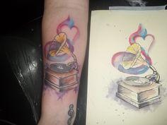 tattoo em aquarela artista: Ricardo Brunini #watercolortattoo