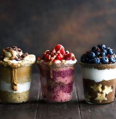 Triple Overnight Oat Parfaits | Vivo Life