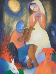 Roberto Chichorro   Roberto Chichorro nasceu em 1941 em Lourenço Marques. Dedicou-se desde cedo à pintura, onde expressa toda a magia das... Cubist Paintings, Gustav Klimt, Impressionist, Disney Characters, Fictional Characters, Folk, African, Drawings, Illustration