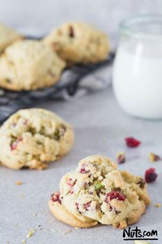 Cranberry Pistachio Cookies Recipe {Gluten-Free} - The Nutty Scoop from Nuts.com