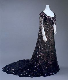 Dress, Evening  Date: 1902 Culture: French Medium: silk, sequins