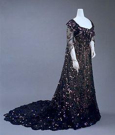 Dress, Evening Date: 1902 Culture: French Medium: silk, sequins
