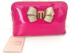 aed9e8c71 NEW Ted Baker London Lezlie Pink Gold Bow Make-Up Cosmetics Wash Bag  Washbag NWT  TedBaker
