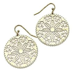 New Filigree Flower Cut Out Earrings