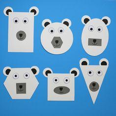 Shape Polar Bear Craft - Winter Craft