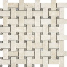 allen + roth Crema Luna Polished Basketweave Mosaic Natural Stone Marble Wall Tile (Common: 12-in x 12-in; Actual: 12-in x 12-in) Item # 526278 Model # 20-675