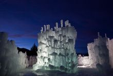 Ice Towers in Midway, Utah, 2014