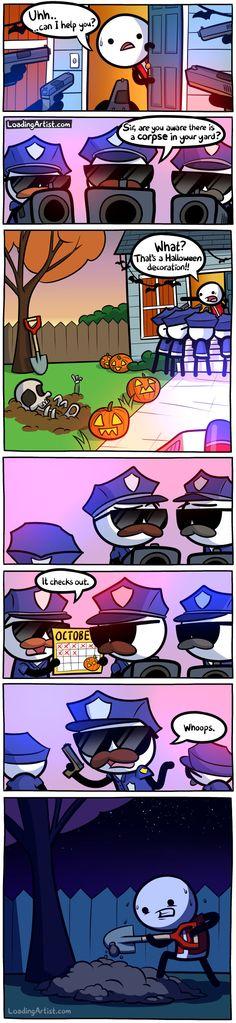 Loading Artist » October. Best Halloween decoration.
