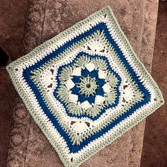 "Ravelry: Project Gallery for Harriett Square 12"" pattern by Carolyn Christmas"