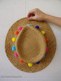 Faz o teu próprio Chapéu de Palha com PomPoms! / Make your own PomPom Straw Hat! - ArTime