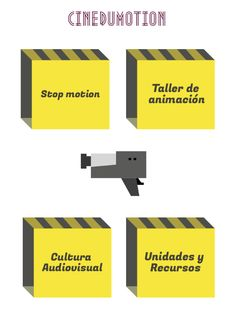 CINEDUMOTION: Enlaces en Infografía. Stop Motion, Movie Posters, Editor, Magic, To Tell, Creativity Exercises, Video Production, Inclusive Education, Film Poster