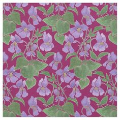 A very pretty floral fabric with a seamlessly repeating pattern of hand-painted Violets on a Rich Purple background that you can customize if you wish. Part of the Posh and Painterly 'Sweet Violets' collection: up to $27.95 per yard - http://www.zazzle.com/custom_sweet_violets_repeat_pattern_floral_fabric-256102314471113324?rf=238041988035411422&tc=pintw