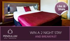 Enter now our #Competition now on Facebook for the chance to win a 2 night stay in #Manchester! Manchester Hotels, Stay The Night, Step Inside, Competition, Facebook, Bed, Furniture, Home Decor, Stream Bed