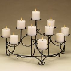 Spandrels Candelabra, Candles Not Included - traditional - fireplace accessories - by BuilderDepot, Inc. Fireplace Candelabra, Fireplace Hearth, Fireplaces, Fireplace Lighting, Metal Fireplace, Candle Cups, Candle Stand, Empty Fireplace Ideas, Mantel Ideas