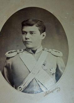 Tsarevich Nicolás Alexandrovich,  más adelante Zar Nicolás II (1868-1918)    alrededor de 1884.