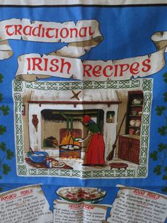 Six Traditional Irish Recipes Vintage by weMixandMatchVintage, $12.00
